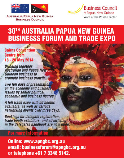 30th Australia Papua New Guinea Business Forum and Trade Expo