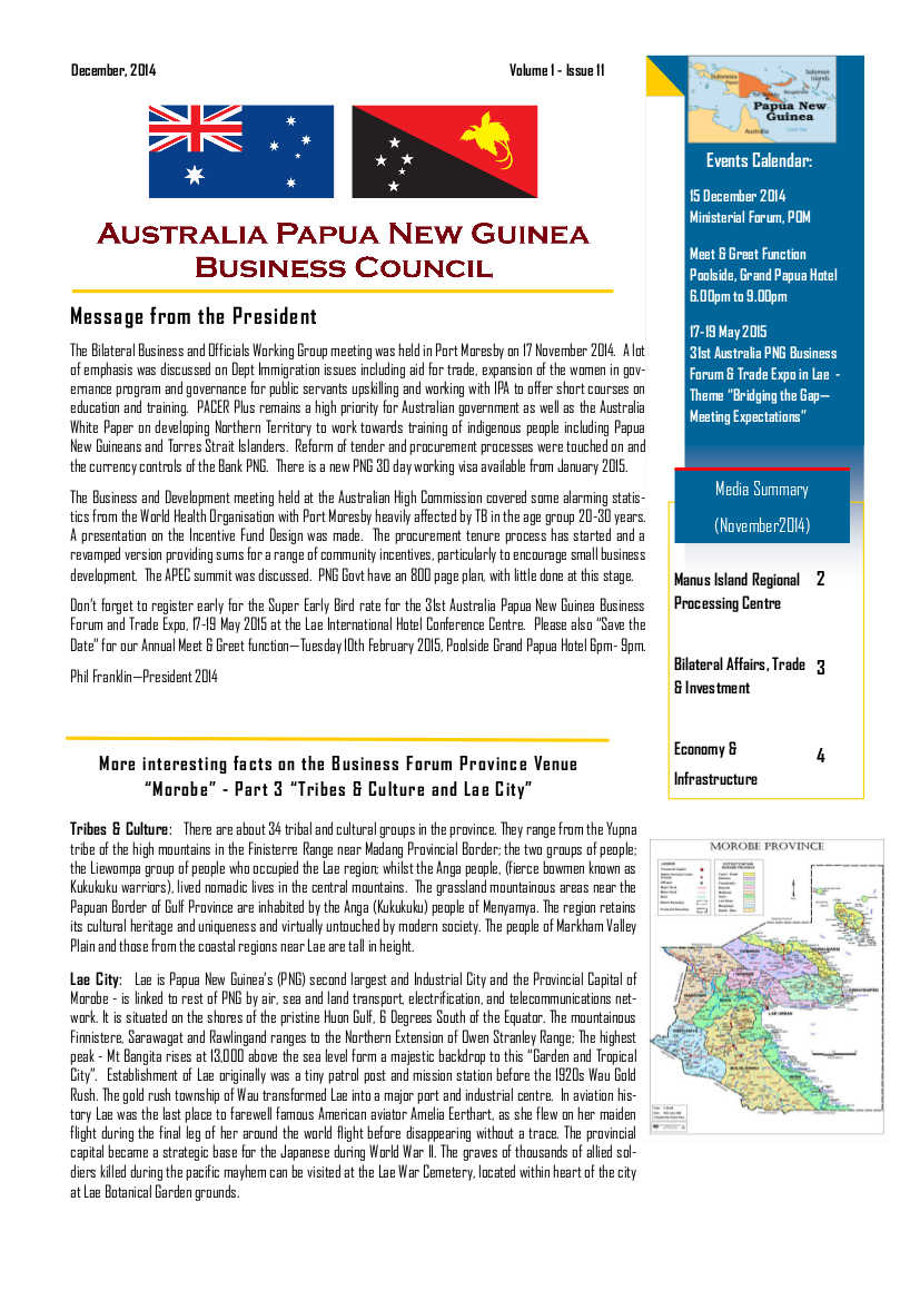 APNGBC Newsletter Front Page December 2014